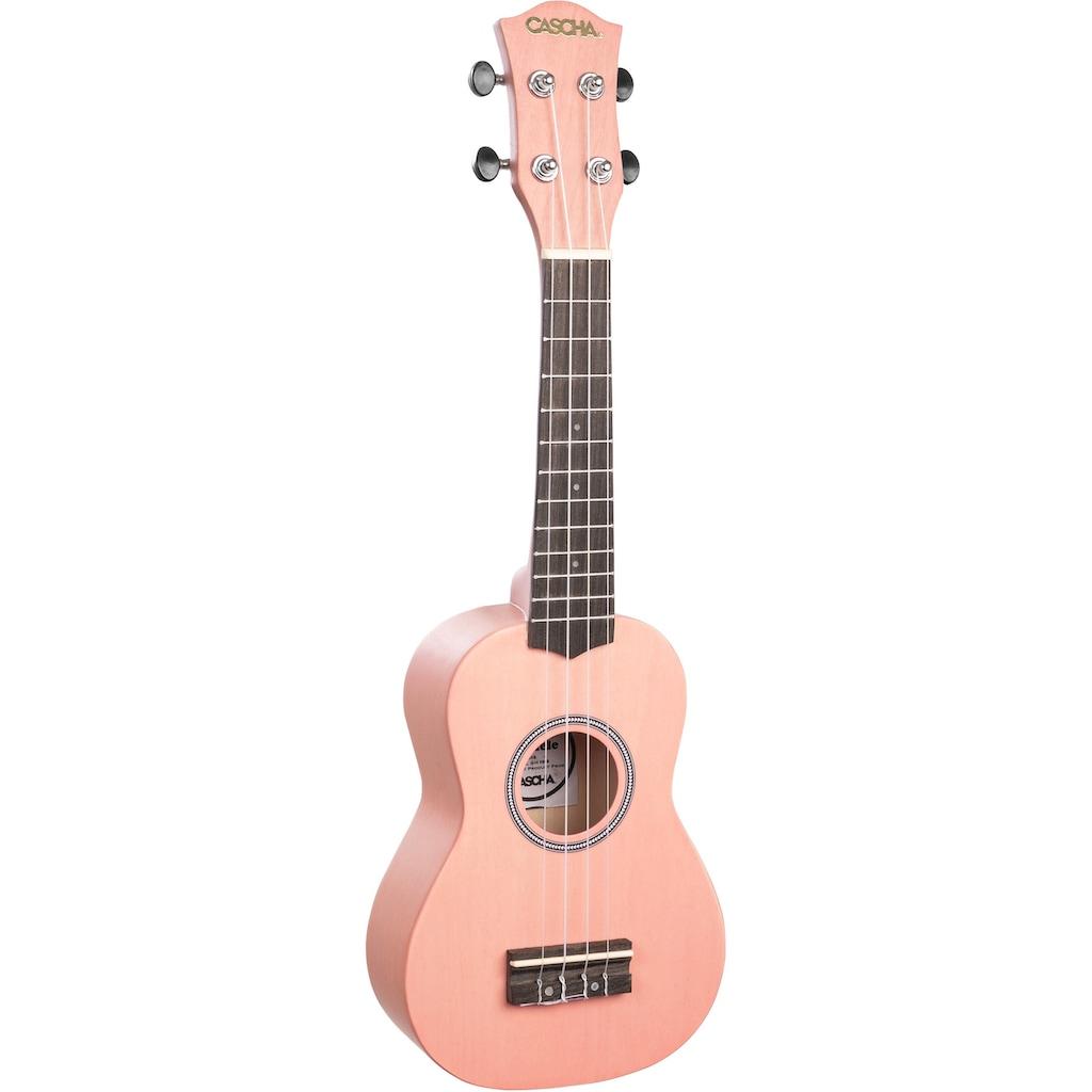 Cascha Ukulele »Sopran, Pink«, mit Tasche, Übungsheft, Plektren und Stimmgerät