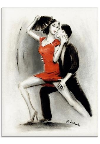 Artland Glasbild »Leidenschaftliches Tanzpaar«, Menschen, (1 St.) kaufen