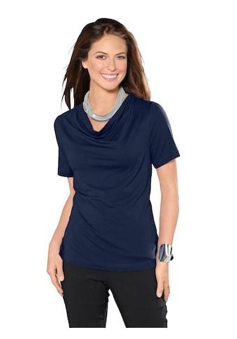 Inspirationen Shirt mit reizvollem Wasserfall - Ausschnitt kaufen