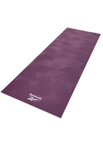 Reebok Yogamatte »Reebok Yogamatte mit geometrischem Muster - beidseitig, rutschfest« kaufen