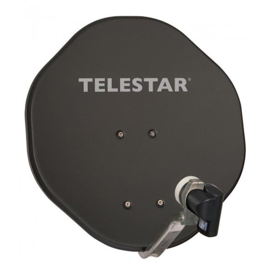 TELESTAR Sat-Spiegel »ALURAPID 45 mit SKYSINGLE HC LNB«, (Aluminium), mit 40mm Feedhalter