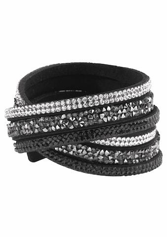 J.Jayz Armband »zum Wickeln«, (1 tlg.), mit Glassteinen kaufen