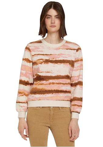 TOM TAILOR Denim Sweater, mit Batikmuster kaufen