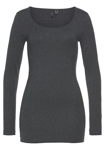 Vero Moda Longshirt »VMMAXI MY LS SOFT LONG U-NECK«, in Melange Optik kaufen
