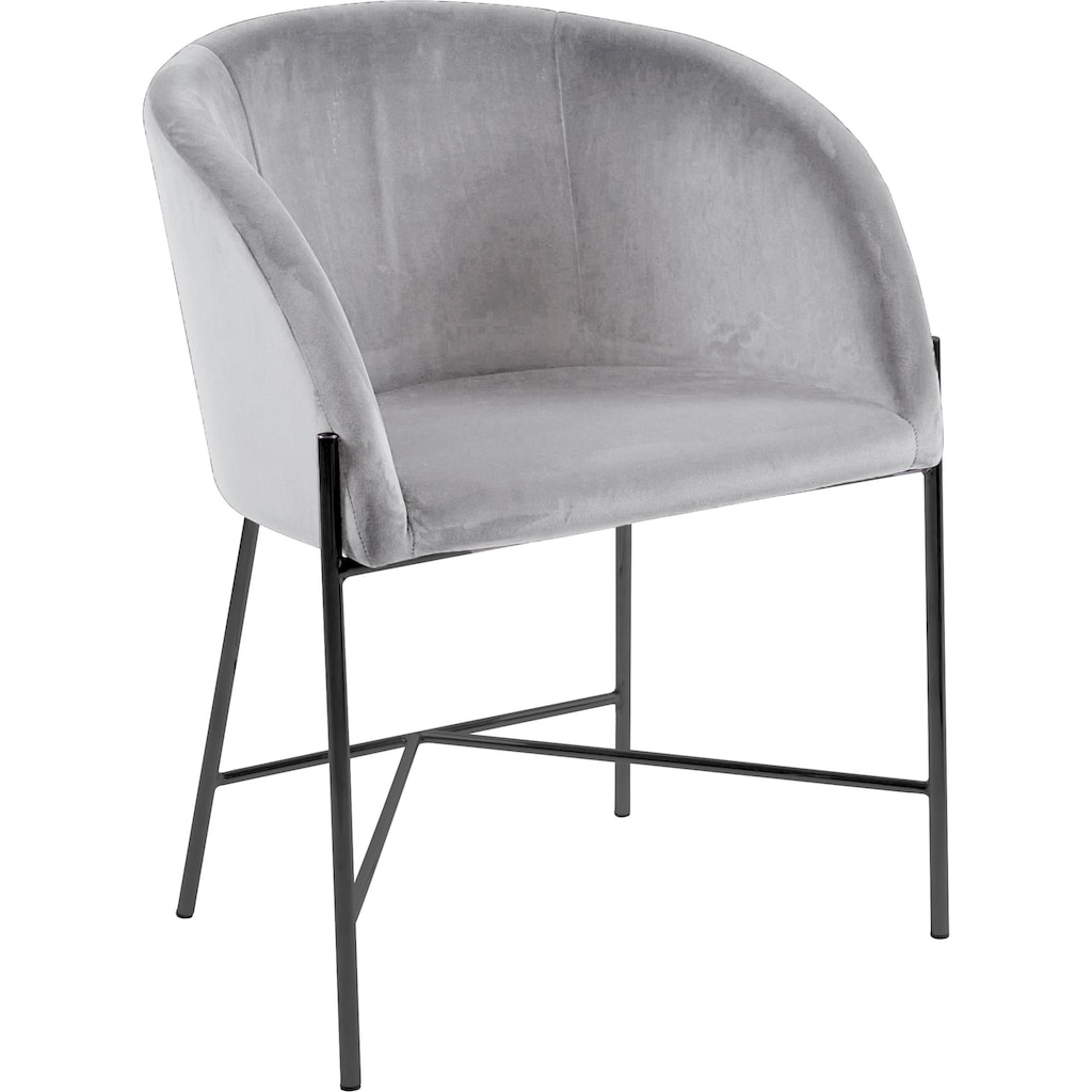 andas Esszimmerstuhl »Nixie«, mit zwei unterschiedlichen Beinfarben und Bezugsqualitäten erhältlich, Sitzhöhe 47 cm