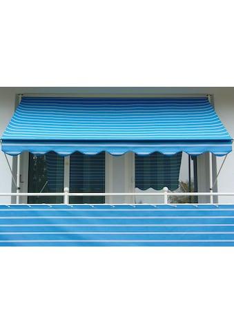 ANGERER FREIZEITMÖBEL Klemmmarkise blau - weiß, Ausfall: 150 cm, versch. Breiten kaufen