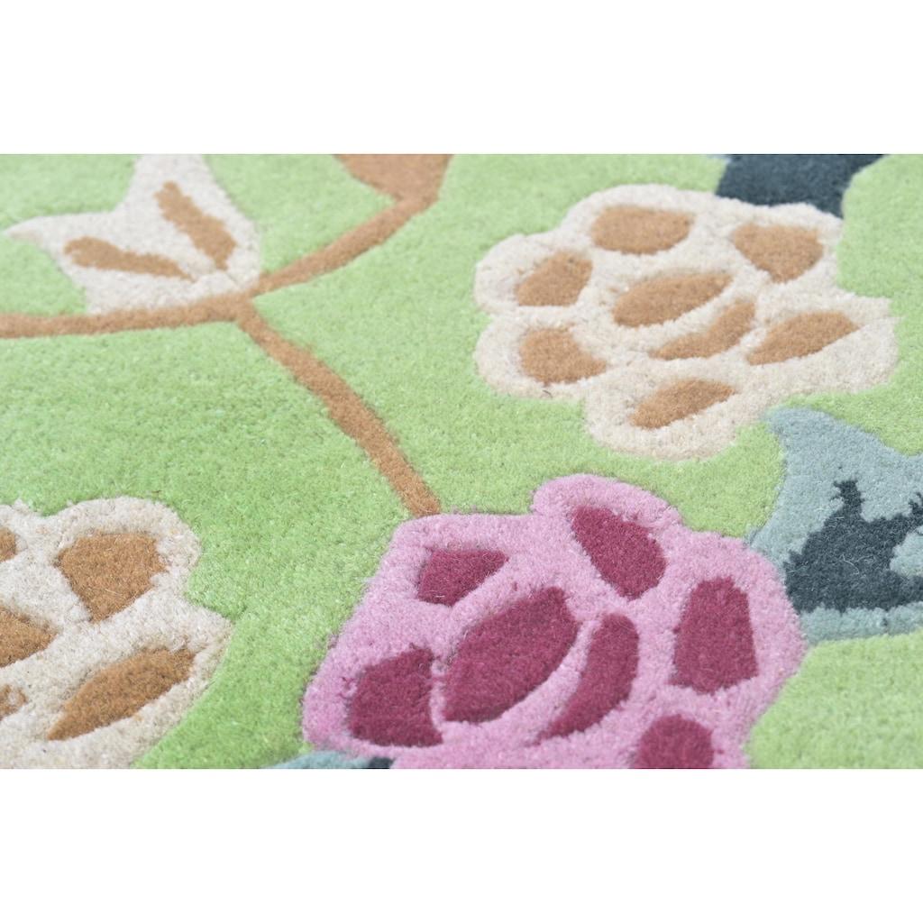 THEKO Bettumrandung »Lifou«, Bettvorleger, Läufer-Set für das Schlafzimmer, reine Schurwolle, handgewebt, mit Bordüre