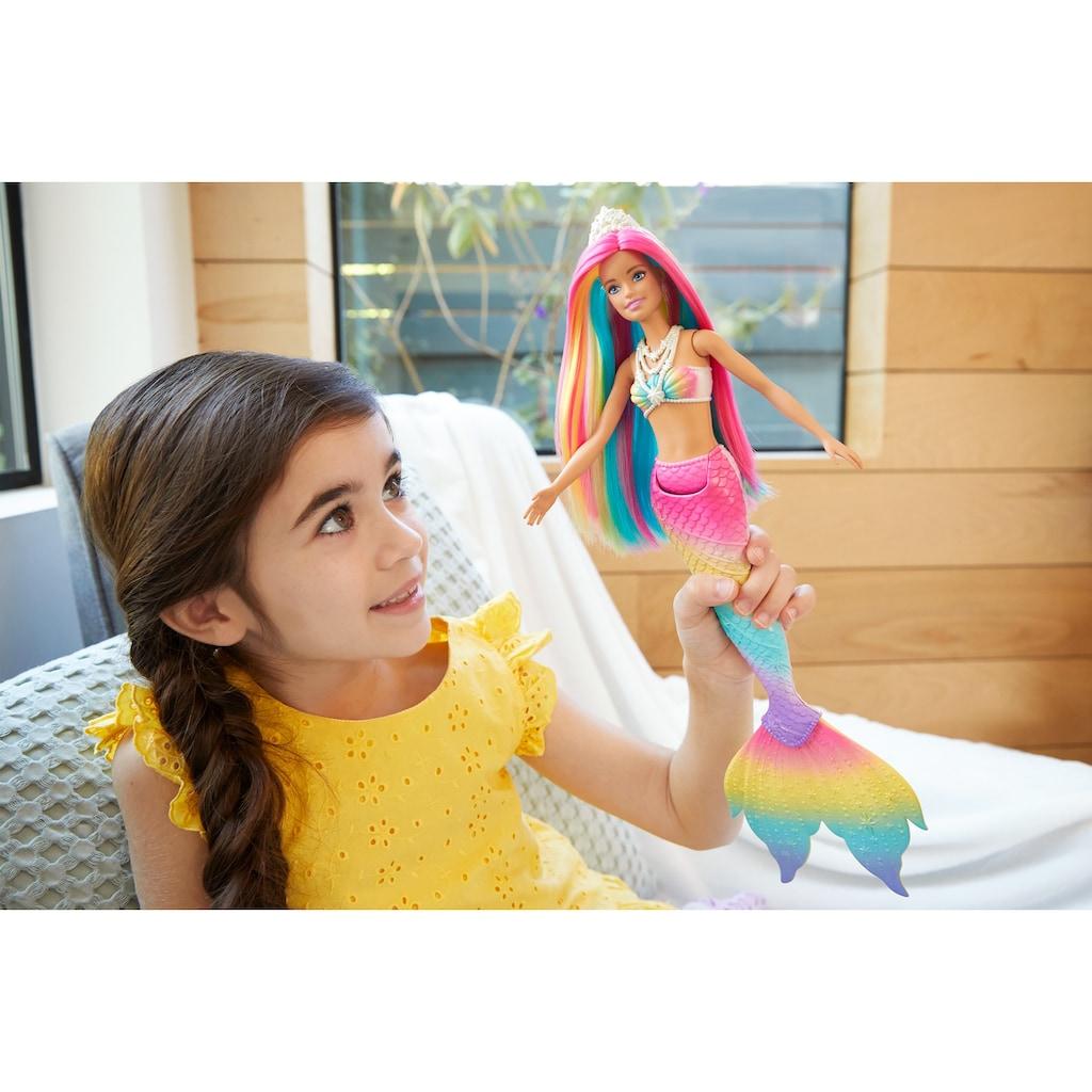 Barbie Meerjungfrauenpuppe »Puppe, Dreamtopia Regenbogenzauber Meerjungfrau mit Farbwechsel«