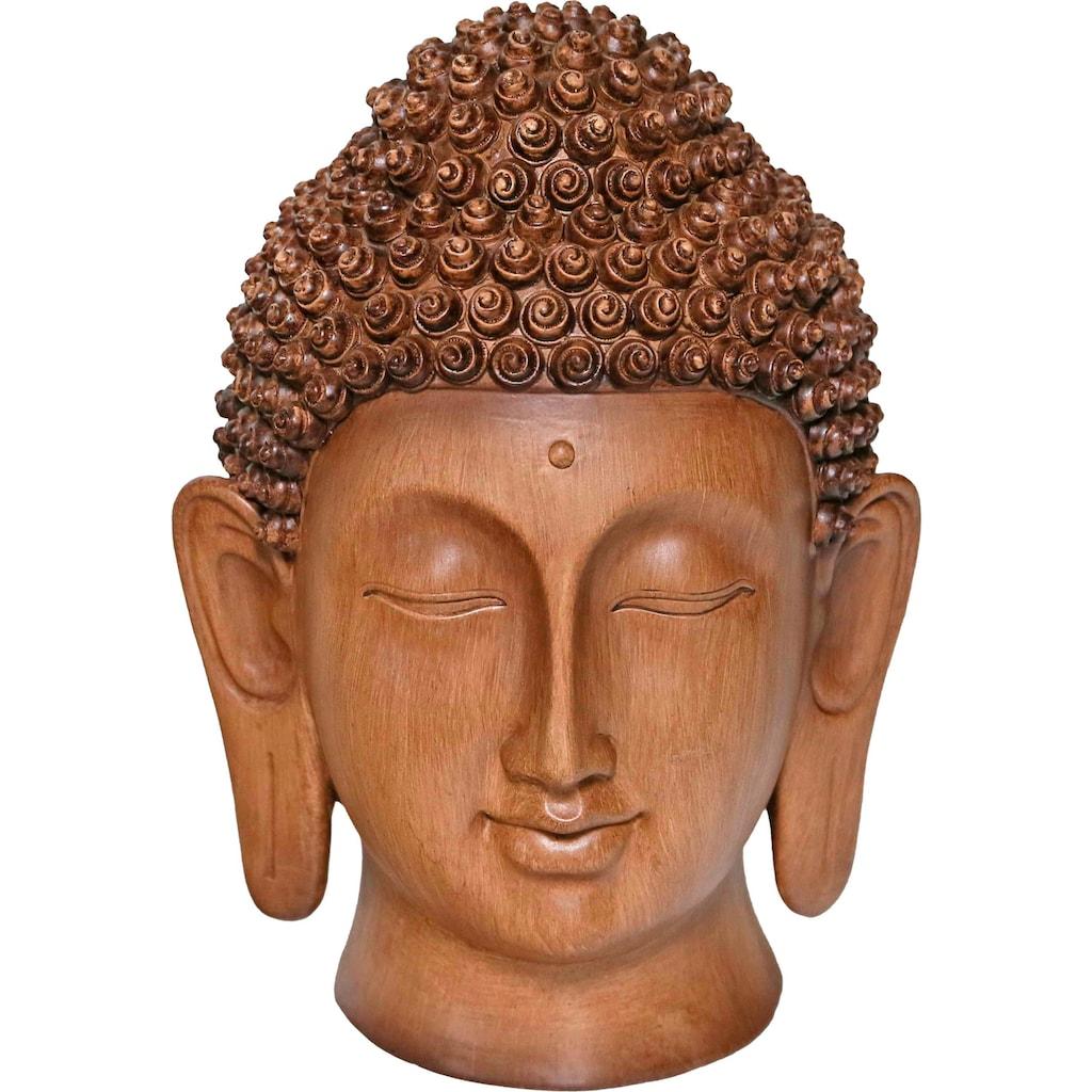 Casa Collection by Jänig Buddhafigur »Holzoptik«, Höhe: 28,5 cm