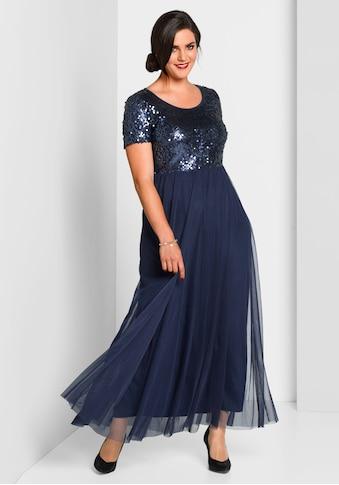 Sheego Abendkleid, mit Pailletten kaufen