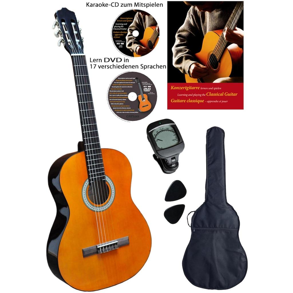 Clifton Konzertgitarre »Clifton-Konzertgitarre«, 3/4, Komplettset