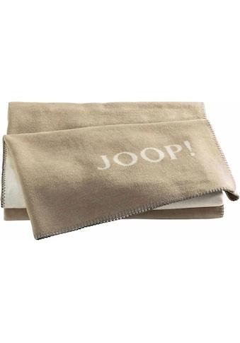 Joop! Wohndecke »JOOP! UNI-DOUBLEFACE«, mit JOOP! Logo kaufen