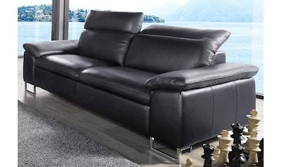 Places of Style 3-Sitzer, in NaturLEDER®, mit 7-fach verstellbaren Rückenlehnen und... kaufen