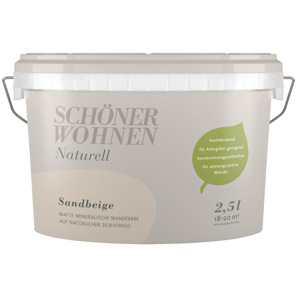 SCHÖNER WOHNEN-Kollektion Wand- und Deckenfarbe »Naturell Sandbeige«, sandbeige, 2,5 l