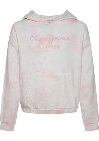 Pepe Jeans Kapuzensweatshirt »Silvie«, kürzere Passform kaufen