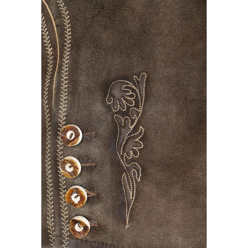 MarJo Trachtenlederhose, mit Stickerei