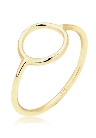 Elli Fingerring »Geo Trend Look Kreis Statement 375 Gelbgold« kaufen