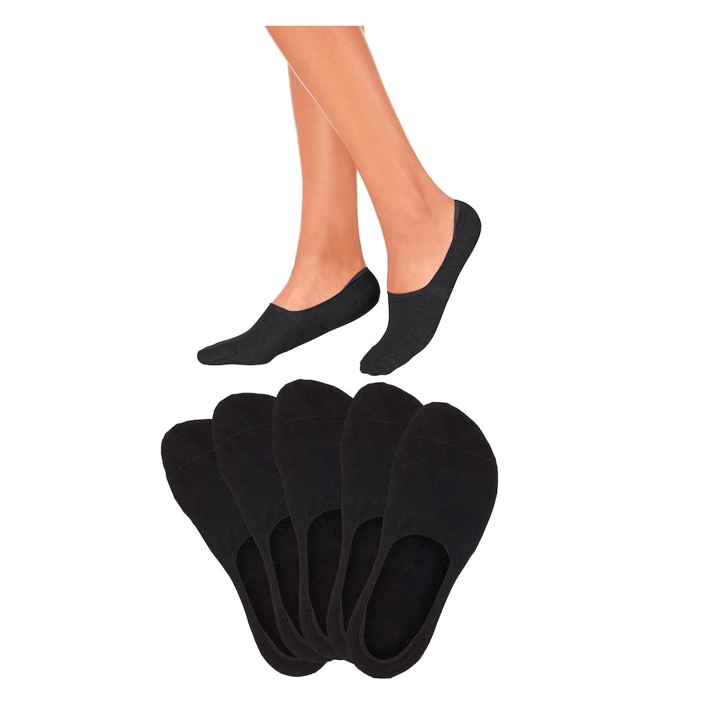 Bench. Füßlinge, (5 Paar), für weit ausgeschnittene Schuhe