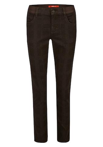 ANGELS Dehnbund-Jeans, 'One Size Fits All' mit kariertem Allover-Muster kaufen