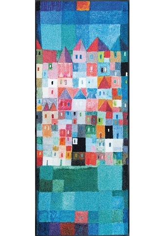 wash+dry by Kleen-Tex Läufer »Colourful Houses«, rechteckig, 7 mm Höhe, In- und... kaufen