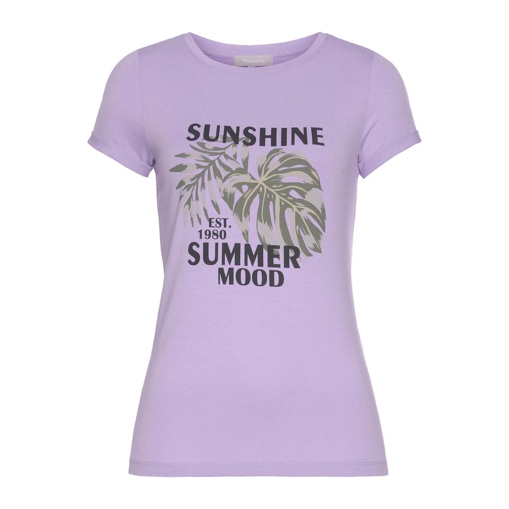 Tamaris T-Shirt, mit Frontprint