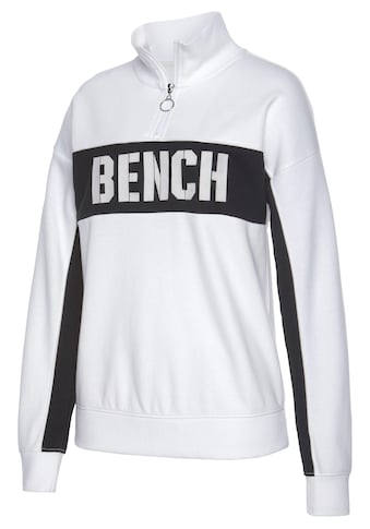 Bench. Sweatshirt »Contrast«, im Color-Blocking Design mit Logoprint kaufen