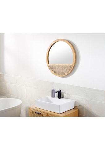 COUCH♥ Wandspiegel »Feines Geflecht«, Rahmen aus Massivholz, Rattan Einsatz kaufen