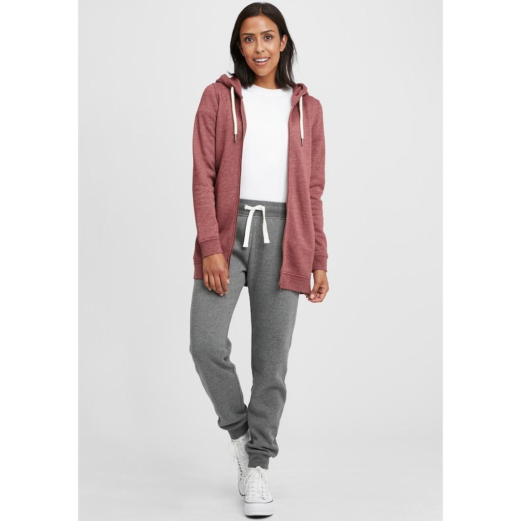 OXMO Kapuzensweatjacke »Vicky Straight-Zip«, Sweatshirtjacke lang geschnitten