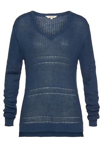 Herrlicher V-Ausschnitt-Pullover »LANINA«, mit feinem Strukturmuster kaufen