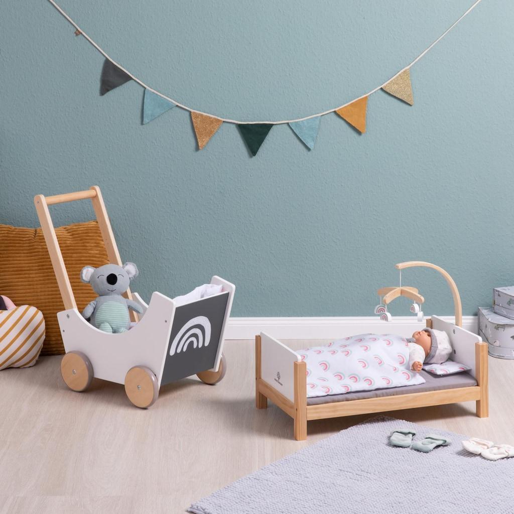 MUSTERKIND® Puppenbett »Barlia, weiß/natur«, mit Mobile