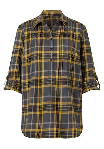 Bluse im hochwertig garngefärbtem Karodessin kaufen