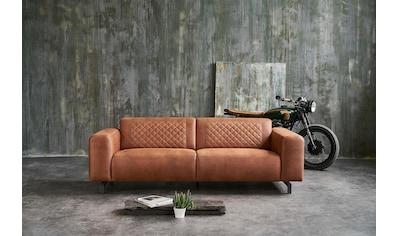 Premium collection by Home affaire 3-Sitzer »Avila«, in Lederoptik und Metall Füßen kaufen