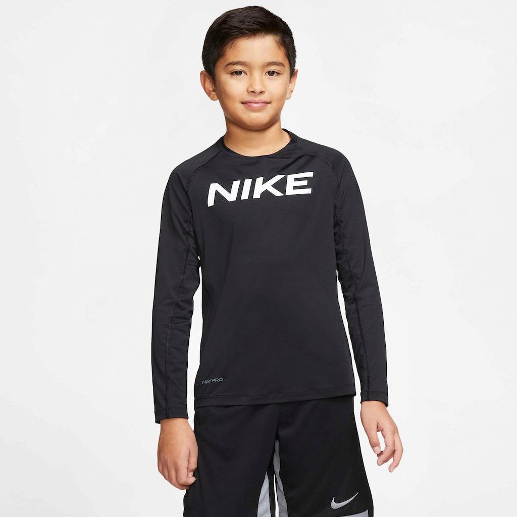 Nike Langarmshirt »B NP LS FTTD TOP«