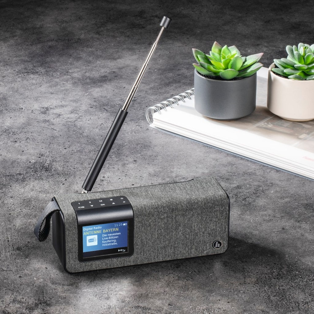 "Hama Digitalradio (DAB+) »DAB+ Radio«, (Bluetooth Digitalradio (DAB+)-FM-Tuner), ""DR200BT"", FM/DAB/DAB+/Bluetooth/Akkubetr"