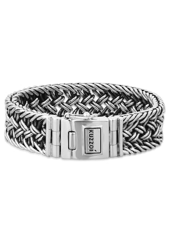 Kuzzoi Armband »Herren Silber Maskulin Oberfläche oxidiert« kaufen