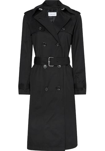 Calvin Klein Trenchcoat »COTTON NYLON TRENCH COAT«, mit den typischen Trenchdetails kaufen