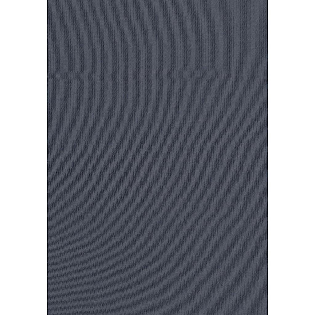 LASCANA Taillenslip, (3 St.), mit goldfarbenem Logodruck