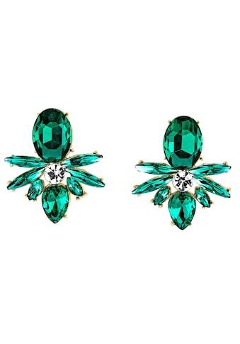 J.Jayz Paar Ohrstecker »smaragdgrün, Navette- und Tropfenschliff, glanzvoll«, mit... kaufen