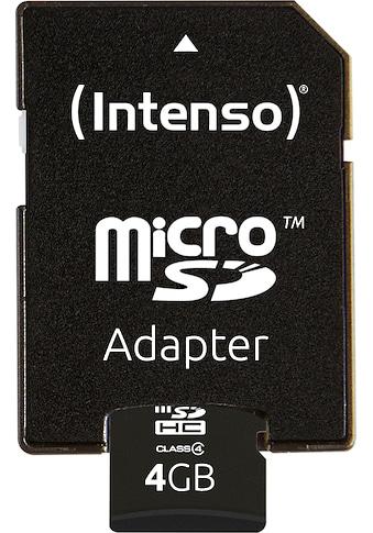 Intenso »microSDHC Class 4 + SD - Adapter« Speicherkarte (Lesegeschwindigkeit maximal 16,5 MB/s) kaufen