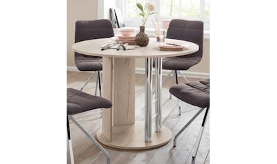Home affaire Säulen-Esstisch »Rondell«, Breite 105-145 cm kaufen