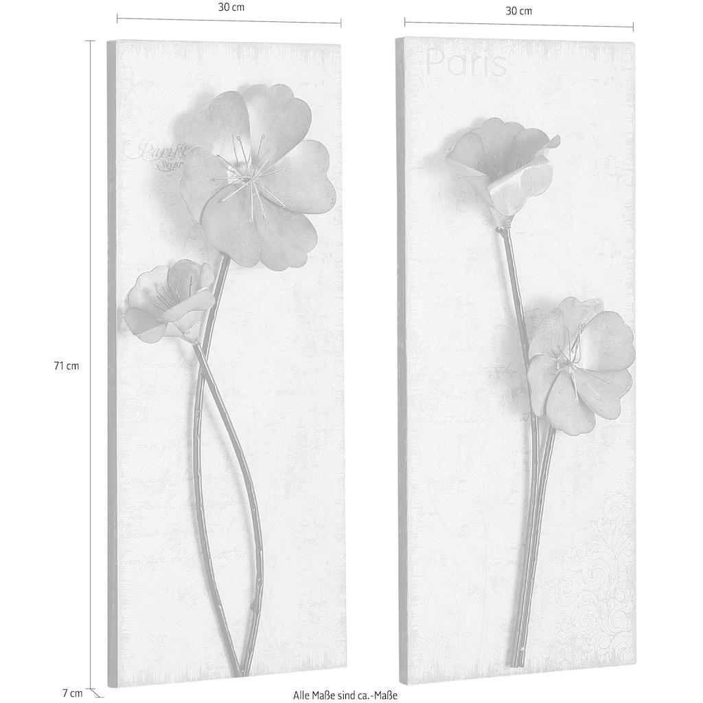 Home affaire Wandbild »Used-Look-Optik«, (Set), 2x 30/71 cm