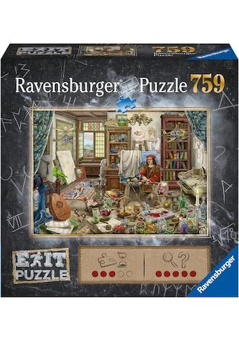 Ravensburger Puzzle »Exit Das Künstleratelier«, FSC® - schützt Wald - weltweit; Made... kaufen