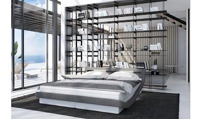 SalesFever Polsterbett, LED-Beleuchtung mit Farbwechsler, modernes Design Bett... kaufen