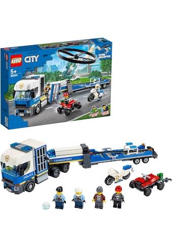 LEGO® Konstruktionsspielsteine »Polizeihubschrauber-Transport (60244), LEGO® City«,... kaufen