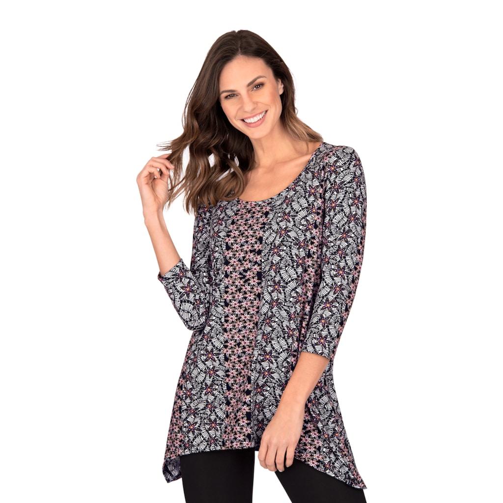 Trigema Longshirt, mit floralem Muster