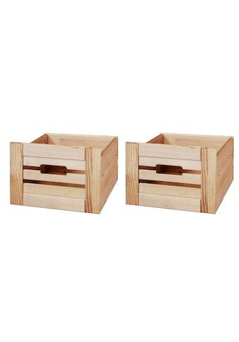 welltime Aufbewahrungsbox »Venezia Landhaus«, (Set, 2 St.), aus Massivholz Kiefer kaufen