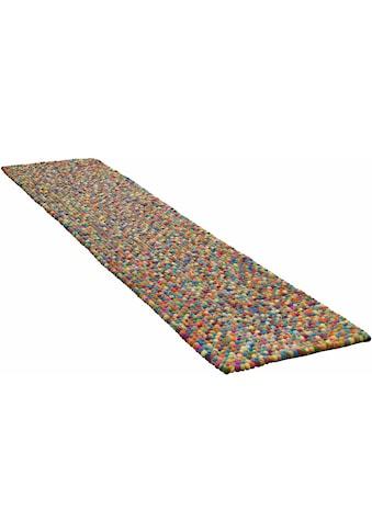 THEKO Läufer »Ballo«, rechteckig, 22 mm Höhe, Filzkugel-Läufer, reine Wolle,... kaufen