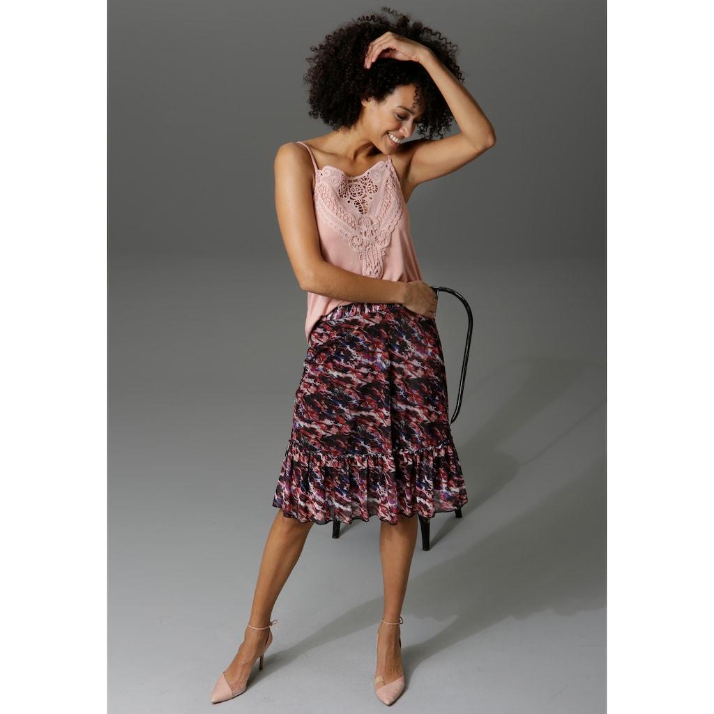 Aniston CASUAL Sommerrock, mit Blumendruck oder graphischem Muster - du hast die Wahl