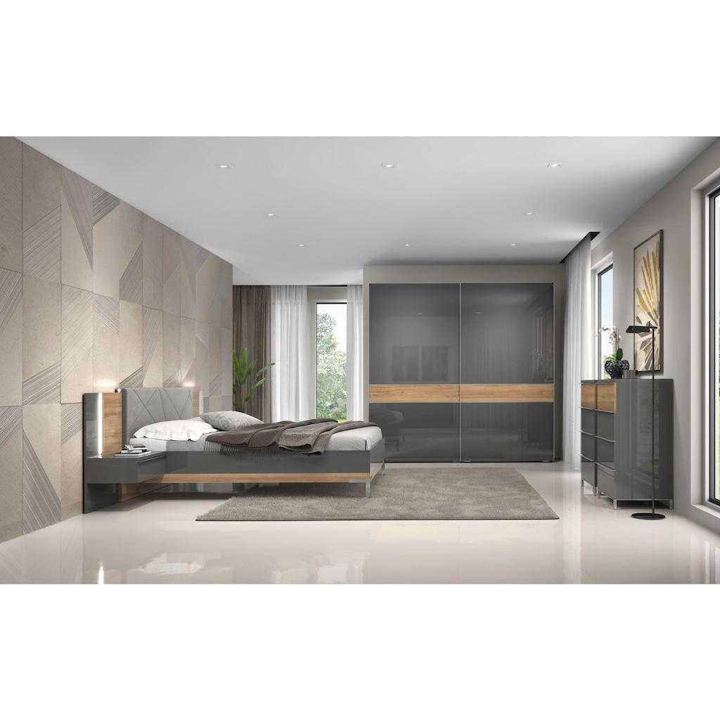 Places of Style Bettgestell »Onyx«, mit gepolstertem Kopfteil, Liegefläche 160x200 cm