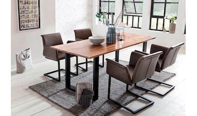 SalesFever Essgruppe, (Set, 5 tlg.), bestehend aus 4 modernen Freischwinger Stühlen... kaufen